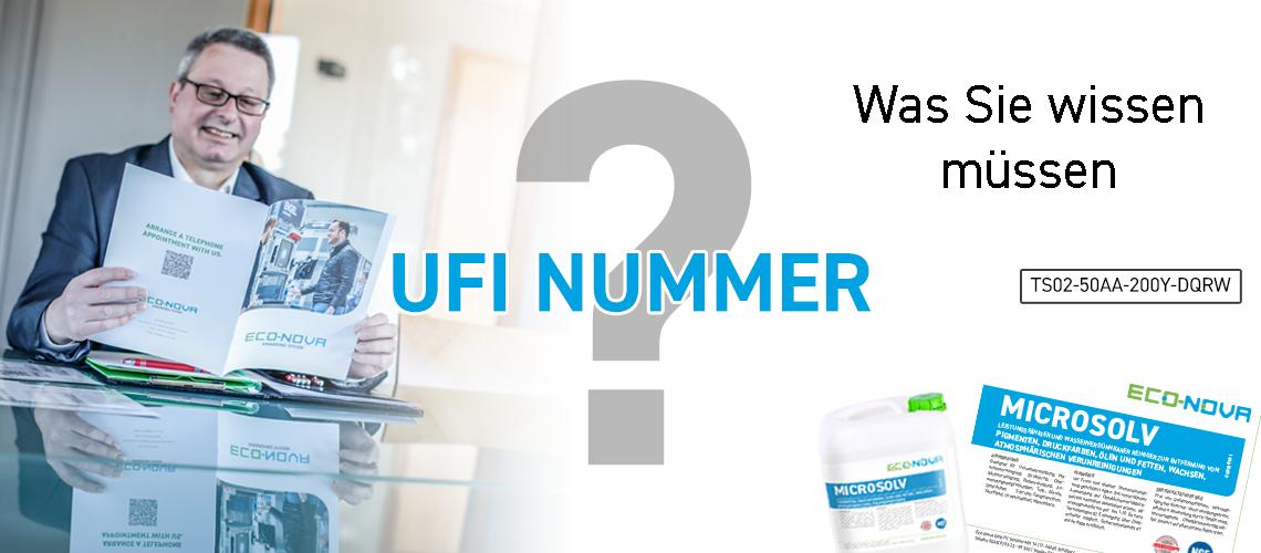 UFI Nummer Eco Nova